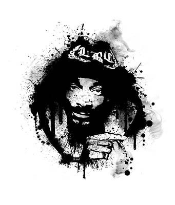 Rap Digital Art - Snoop by Laurence Adamson