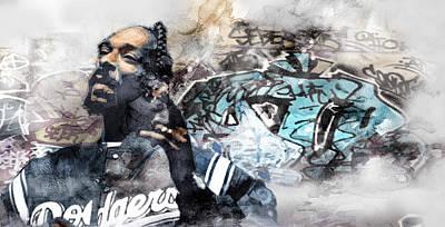 Evansville Drawing - Snoopp Graffiti 8 by Jani Heinonen