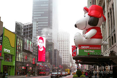 Photograph - Snoopy At Macy's On 34th Street New York City by John Rizzuto