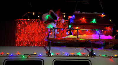 Photograph - Snoopy Rides The Vw Van Christmas Parade by Toni Hopper