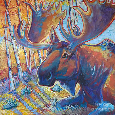 Painting - Snooze In The Aspens by Jenn Cunningham