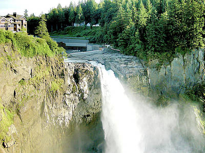 Photograph - Snoqualmie Falls And Salish Lodge by Linda Carruth