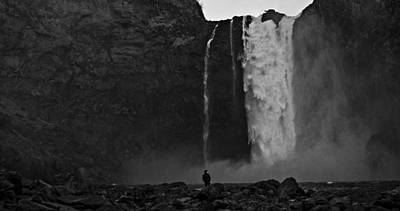 Snoqualmie Photograph - Snoqualmie Falls Black And White 3 by Pelo Blanco Photo
