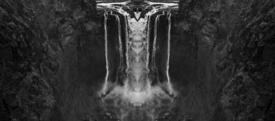 Snoqualmie Photograph - Snoqualmie Falls Black And White Reflection by Pelo Blanco Photo