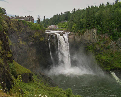 Photograph - Snoqualmie Falls From Above by Allen Sheffield