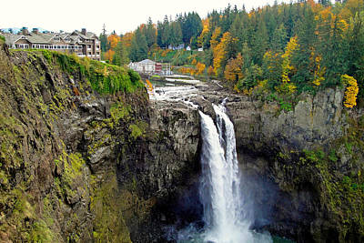 Photograph - Snoqualmie Falls In Autumn 2 by Robert Meyers-Lussier