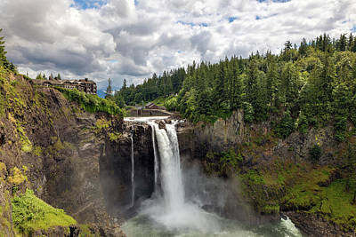 Wall Art - Photograph - Snoqualmie Falls In Washington State by David Gn