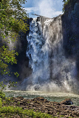 Snoqualmie Falls Art Print by Kelley King
