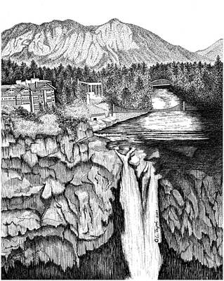 Snoqualmie Falls Print by Lawrence Tripoli