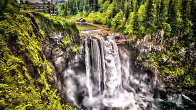 Photograph - Snoqualmie Falls  by Matthew Ahola
