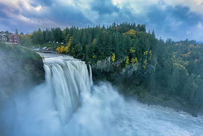 Photograph - Snoqualmie Falls Rush Hour by Ken Stanback