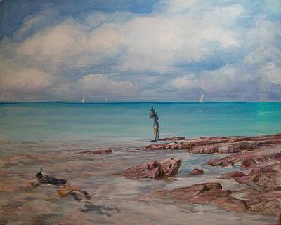 Painting - Snorkling In Aruba by Perrys Fine Art
