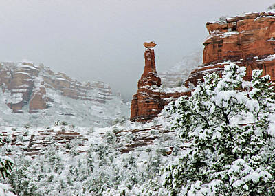 Boynton Canyon Photograph - Snow 06-027 by Scott McAllister