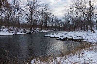 Photograph - Snow Along James River by Jennifer White