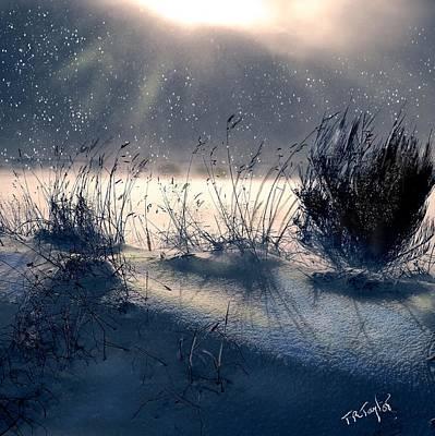 Digital Art - Snow Along The Way. by Ralph Taylor