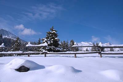 Photograph - Snow And Blue Skys 2 by Mark Smith