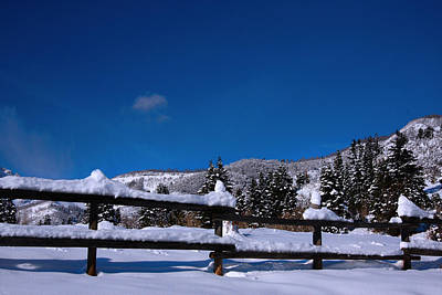 Photograph - Snow And Blue Skys by Mark Smith