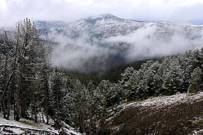 Snow Photograph - Snow And Clouds In The Mountains by Larry Ricker