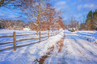 Photograph - Snow And Fence by Tom Singleton