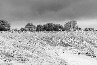 Photograph - Snow And Frost Covered Plains by Tony Hake