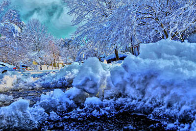 Photograph - Snow Ice And Windy Skies by Dennis Baswell