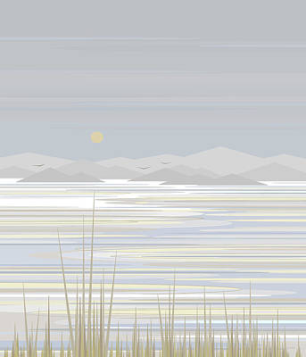 Snow-covered Landscape Digital Art - Snow And Ice  by Val Arie
