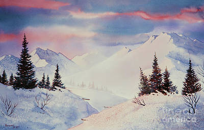 Painting - Snow And Sunrise by Teresa Ascone