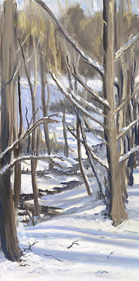 Wall Art - Painting - Snow And Sunshine by Katherine Farrell