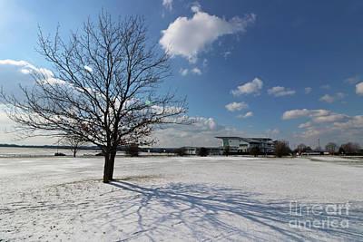 Photograph - Snow And Sunshine On Epsom Downs Surrey 2 by Julia Gavin