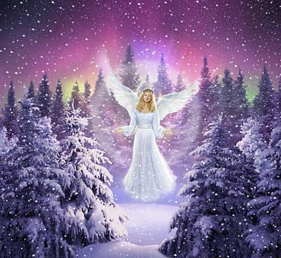 Glow Digital Art - Snow Angel by Jerry LoFaro