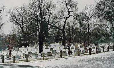Photograph - Snow At Arlington by D Hackett