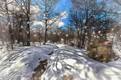 Photograph - Snow At Faiallo Pass - Nevicata Al Passo Del Faiallo Sull'alta Via Dei Monti Liguri Paint by Enrico Pelos