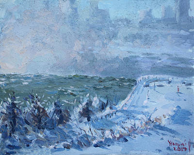 Painting - Snow At Horseshoe Falls by Ylli Haruni