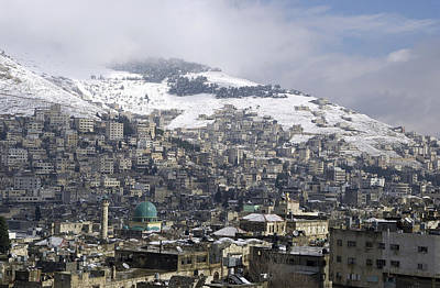 Photograph - Snow At Nablus 2 by Isam Awad