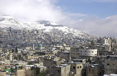 Photograph - Snow At Nablus by Isam Awad