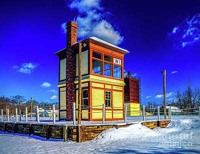 Photograph - Snow At Richland Station by Nick Zelinsky