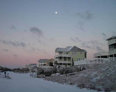 Photograph - Snow At The Beach by Betty Buller Whitehead