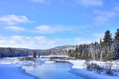 Photograph - Snow At The Green Bridge by David Patterson