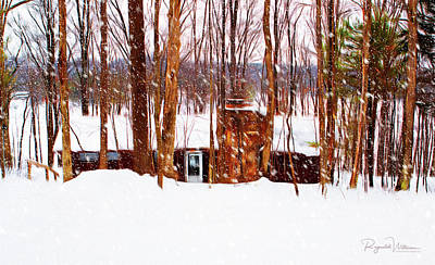 Photograph - Snow At The Lodge by Reynaldo Williams