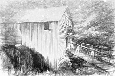 Photograph - Snow At The Mill by Alice Gipson