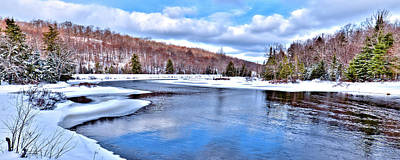 Photograph - Snow At The River by David Patterson