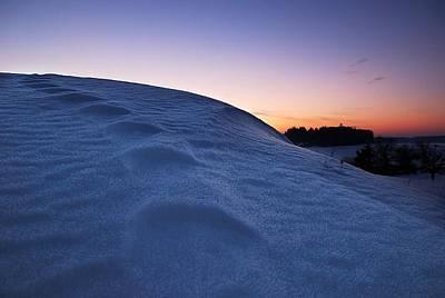 Snow Bank Print by Hannes Cmarits