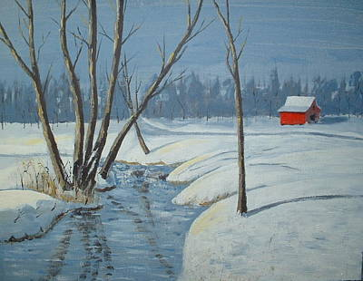 Painting - Snow Barn by Francis Chester