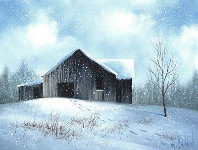 Painting - Snow Barn by Janet Jackson