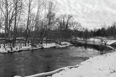 Photograph - Snow Beauty James River Grayscale by Jennifer White