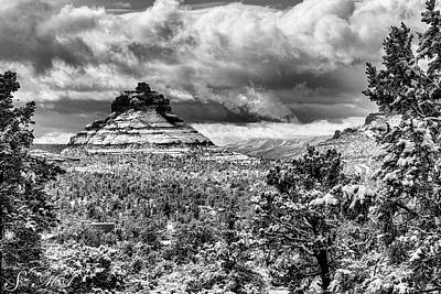 Photograph - Snow Bell Rock 09-026 by Scott McAllister