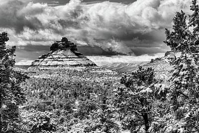 Photograph - Snow  Bell Rock 09-026 by Scott McAllister