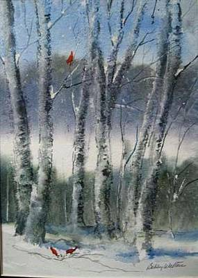 Painting - Snow Birch  by Bobby Walters