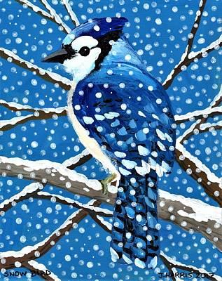 Painting - Snow Bird by Jim Harris