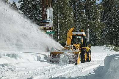 Photograph - Snow Blowing by Jim Thompson